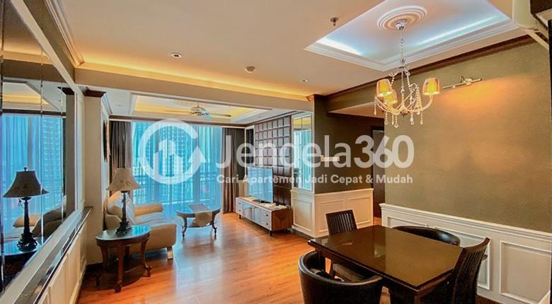 Living Room Apartemen Central Park Apartment